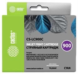 Струйный картридж Cactus CS-LC900C (LC900C) голубой для принтеров Brother DCP-110c, 115c, 117c, 120c, 310cn, 315cn, 340cw, MFC-210c, 215c, 3240c, 3340cn, 410cn, 425cn, 5440cn, 5840cn, 620cn, 640cw (16,6 мл) - фото 14851