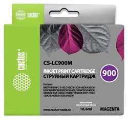 Струйный картридж Cactus CS-LC900M (LC900M) пурпурный для принтеров Brother DCP-110c, 115c, 117c, 120c, 310cn, 315cn, 340cw, MFC-210c, 215c, 3240c, 3340cn, 410cn, 425cn, 5440cn, 5840cn, 620cn, 640cw (16,6 мл) - фото 14852