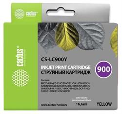 Струйный картридж Cactus CS-LC900Y (LC900Y) желтый для принтеров Brother DCP-110C, 115C, 117C, 120C, 310CN, 315CN, 340CW, MFC-210C, 215C, 3240C, 3340CN, 410CN, 425CN, 5440CN, 5840CN, 620CN, 640CW (16,6 мл) - фото 14853