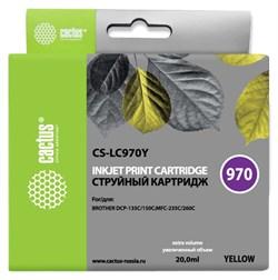 Струйный картридж Cactus CS-LC970Y (LC970Y) желтый для принтеров Brother DCP 135, DCP 135C, DCP 150, DCP 150C, DCP 153C, DCP 157C, DCP 750CN, MFC 235, MFC 235C, MFC 260, MFC 260C (20 мл) - фото 14857