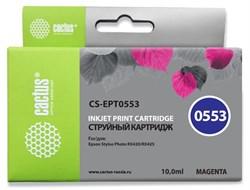 Струйный картридж Cactus CS-EPT0553 (T0553) пурпурный для принтеров Epson Stylus Photo R240, R245, RX420, RX425, RX430, RX520 (10 мл) - фото 14944