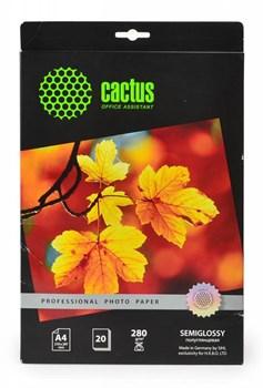 Фотобумага Cactus Prof CS-SGA428020 A4, 280г/м2, 20л., белый полуглянцевое для струйной печати - фото 6847