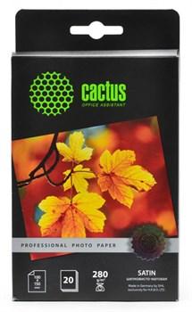 Фотобумага Cactus Prof CS-SMA628020 10x15, 280г/м2, 20л., белый шелковисто-матовое для струйной печати - фото 6858