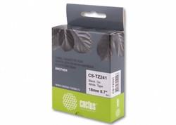 Лента Cactus CS-TZ241 (TZE-241) черный для принтеров P-touch PT-1010, PT-1280, PT-1280VP, PT-2700VP (18 мм x 8 м) - фото 6870