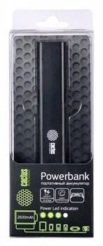 Мобильный аккумулятор Cactus CS-PBAS120-2600BK 2600mAh 1A черный - фото 6913