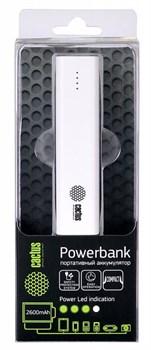 Мобильный аккумулятор Cactus CS-PBAS120-2600WT 2600mAh 1A белый - фото 6918
