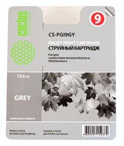 Струйный картридж Cactus CS-PGI9GY (PGI-9GY) серый для принтеров Canon Pixma iX7000, MX7600, PRO 9500, PRO9500 Mark II (650 стр.) - фото 7242