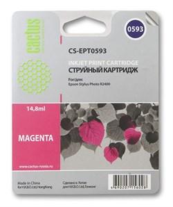 Струйный картридж Cactus CS-EPT0593 (C13T05934010) пурпурный для принтеров Epson Stylus Photo R2400 (440 стр.) - фото 7491