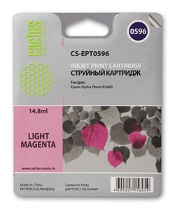 Струйный картридж Cactus CS-EPT0596 (C13T05964010) светло-пурпурный для принтеров Epson Stylus Photo R2400 (440 стр.) - фото 7503