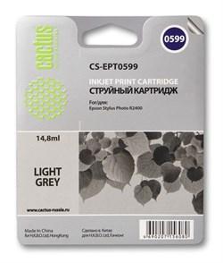 Струйный картридж Cactus CS-EPT0599 (C13T05994010) светло-серый для принтеров Epson Stylus Photo R2400 (440 стр.) - фото 7515