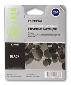 Струйный картридж Cactus CS-EPT264 (C13T02640110) черный для принтеров Epson Stylus C50, Photo 810, 820, 830, 830U, 925, 935 (12.6 мл) - фото 7623