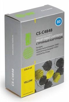 Струйный картридж Cactus CS-C4848 (HP 80) желтый для принтеров HP DesignJet 1000 series, 1050, 1050C, 1050C Plus, 1055, 1055CM, 1055CM Plus (350 мл.) - фото 7827