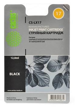 Струйный картридж Cactus CS-LX17 (80D2954) черныый для принтеров Lexmark - i3, X72, X74, X75, X75M, X1000, X1110, X1130, X1140, X1150, X1155, X1160, X1170, X1180, X1190, X1196, X1200, X1250, X1270, X2225, X2230, X2240, X2250, Z13, Z23, Z23E, Z24, Z25, Z25 - фото 8140