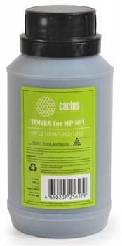 Тонер для принтера Cactus CS-THP1-100 черный (флакон 100гр) HP LJ 1010, 1012, 1015 - фото 8157