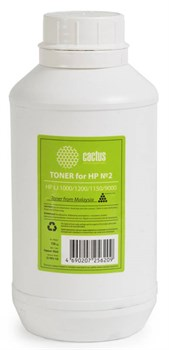 Тонер для принтера Cactus CS-THP2-150 черный (флакон 150гр) HP LJ 1000, 1200, 1150, 9000 - фото 8159