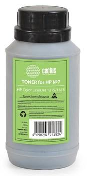 Тонер для принтера Cactus CS-THP7BK-55 черный (флакон 55гр) HP Color LaserJet 1215/1615 - фото 8176