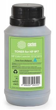Тонер Cactus CS-THP7C-45 голубой флакон 0.045кг для принтера HP Color LaserJet 1215/1615 - фото 8177