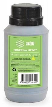 Тонер для принтера Cactus CS-THP7Y-45 желтый (флакон 45гр) HP Color LaserJet 1215/1615 - фото 8179
