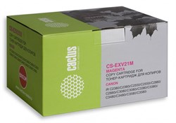 Лазерный картридж Cactus CS-EXV21M (0454B002) пурпурный для Canon iR C2380, C2380i, C2550, C2550i, C2880, C2880i, C3080, C3080i, C3380, C3380e, C3380i, C3380Ne, C3480, C3480i, C3580, C3580i, C3580Ne, C3880, C3880i (14'000 стр.) - фото 8448