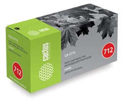 Лазерный картридж Cactus CS-C712S (№712) черный для принтеров Canon LBP 3010 i-Sensys, 3010B i-Sensys, 3020 i-Sensys, 3100 i-Sensys (1500 стр.) - фото 8479