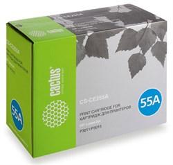 Лазерный картридж Cactus CS-CE255A (HP 55A) черный для принтеров HP LaserJet M521 Pro 500 MFP, M521dn Pro MFP (A8P79A), M525 MFP, M525c MFP, M525dn MFP, M525f MFP, P3010, P3015, P3015d, P3015DN, P3015N, P3015X (6000 стр.) - фото 8551
