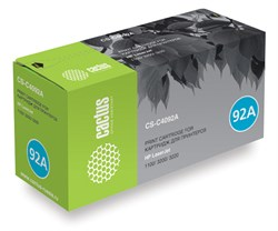 Лазерный картридж Cactus CS-C4092A (HP 92A) черный для принтеров HP LaserJet 1100, 1100a, 1100a AiO, 1100axi AiO, 1100SE, 1100Xi, 3200, 3200M, 3200SE, 3220 (2500 стр.) - фото 8596