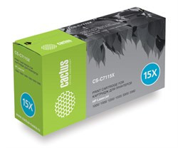 Лазерный картридж Cactus CS-C7115X   (HP 15X) черный для принтеров LaserJet 1200, 1200N, 1200SE, 1220, 1220SE, 3300, 3300MFP, 3310, 3320, 3320MFP, 3320N, 3320N MFP, 3330, 3330MFP, 3380, 3380MFP (3500 стр.) - фото 8616