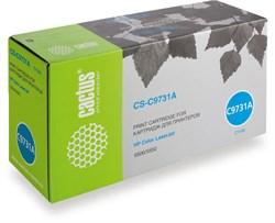 Лазерный картридж Cactus CS-C9731A (HP 645A) голубой для принтеров HP Color LaserJet 5500, 5500DN, 5500DTN, 5500HDN, 5500TDN, 5500N, 5550, 5550DN, 5550DTN, 5550HDN, 5550N (12000 стр.) - фото 8668