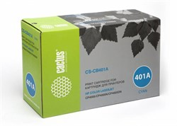 Лазерный картридж Cactus CS-CB401A (HP 642A) голубой для принтеров HP Color LaserJet CP4005, CP4005DN, CP4005N (7500 стр.) - фото 8688