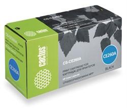Лазерный картридж Cactus CS-CE260A (HP 647A) черный для принтеров HP  Color LaserJet CM4540 MFP, CM4540f MFP, CM4540fskm MFP, CM4540mfp Ent, CP4020 Ent, CP4025 Ent, CP4025dn, CP4025n, CP4520 Ent, CP4525 Ent, CP4525dn, CP4525N, CP4525XH (8500 стр.) - фото 8759