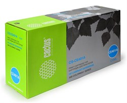 Лазерный картридж Cactus CS-CE401A (HP 507A) голубой для принтеров HP COLOR LASERJET M551 (ENT 500 COLOR), M551DN ENT (CF082A), M551N ENT, M551XH ENT, M570 (PRO 500 COLOR MFP), M570DN (PRO 500 COLORMFP), M570DW (PRO 500 COLORMFP) (6000 СТР.) - фото 8816