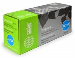 Лазерный картридж Cactus CS-Q2670A (HP 308A) черный для принтеров HP Color LaserJet 3500, 3500N, 3550, 3550N, 3700, 3700D, 3700DN, 3700DTN, 3700N (6000 стр.) - фото 8868