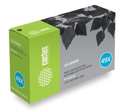 Лазерный картридж Cactus CS-Q5949X (HP 49X) черный для принтеров HP LaserJet 1320, 1320N, 1320NW, 1320T, 1320TN, 3390, 3392 (6000 стр.) - фото 8906