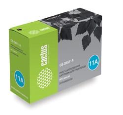 Лазерный картридж Cactus CS-Q6511A (HP 11A) черный для принтеров HP LaserJet 2400 series, 2410, 2410N, 2420, 2420D, 2420DN, 2420N, 2430, 2430DTN, 2430N, 2430T, 2430TN (6000 стр.) - фото 8974