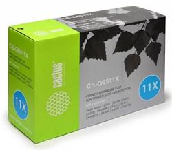 Лазерный картридж Cactus CS-Q6511X (HP 11X) черный для принтеров HP LaserJet 2400 series, 2410, 2410N, 2420, 2420D, 2420DN, 2420N, 2430, 2430DTN, 2430N, 2430T, 2430TN (12000 стр.) - фото 8978