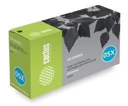 Лазерный картридж Cactus CS-CE505XS (HP 05X) черный для принтеров HP LaserJet P2050, P2055, P2055d, P2055dn, P2055x (6500 стр.) - фото 9058