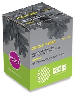 Лазерный картридж Cactus CS-CLP-Y300A (CLP-Y300A) желтый для принтеров Samsung CLP 300, 300N, CLX 2160, 2160N, 3130, 3130N, 3160, 3160FN, 3160N (1000 стр.) - фото 9275