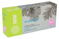 Лазерный картридж Cactus CS-CLT-C407S (CLT-C407S) голубой для принтеров Samsung CLP 320, 320N, 325, CLX 3185, 3185N, 3185FN (1000 стр.) - фото 9353