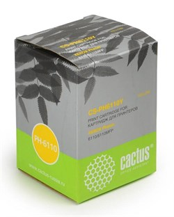 Лазерный картридж Cactus CS-PH6110Y (106R01204) желтый для принтеров Xerox Phaser 6110, 6110b, 6110mfp, 6110n, 6110mfp b, 6110mfp s, 6110mfp x, 6110vb, 6110vn  (1000 стр.) - фото 9534