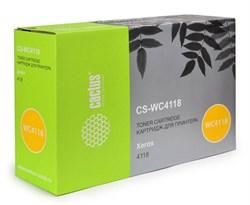 Лазерный картридж Cactus CS-WC4118 (006R01278 ) черный для принтеров Xerox FaxCentre 2218, WorkCentre 4118, 4118p, 4118x, 4118xn (8000 стр.) - фото 9603
