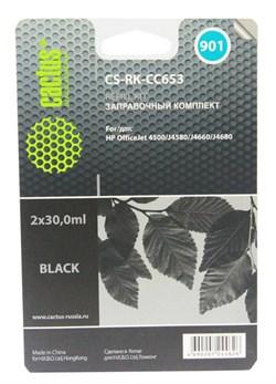 Заправочный набор Cactus CS-RK-CC653 черный (2x30мл) HP OfficeJet - 4500/J4580/J4660/J4680 - фото 9751