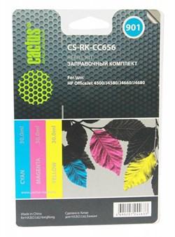 Заправочный набор Cactus CS-RK-CC656 цветной (3x30мл) HP OfficeJet - 4500, J4580, J4660, J4680 - фото 9753