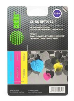Заправка для ПЗК Cactus CS-RK-EPT0732-4 цветной (14.4мл) Epson Stylus С79 - фото 9785