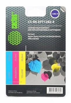 Заправка для ПЗК Cactus CS-RK-EPT1282-4 цветной (8.6мл) Epson Stylus S22 - фото 9804
