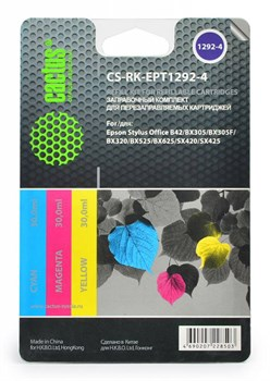 Заправка для ПЗК Cactus CS-RK-EPT1292-4 цветной (11мл) Epson Office B42 - фото 9809