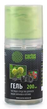Чистящий набор (салфетки + гель) Cactus CS-S3004 для экранов и оптики 1шт 20x23см 200мл - фото 9877