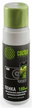 Чистящий набор (салфетки + пена) Cactus CS-S3006 для экранов и оптики 1шт 18x18см 180мл - фото 9884