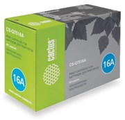Лазерный картридж Cactus CS-Q7516AR (HP 16A) черный для принтеров HP LaserJet 5200, 5200DTN, 5200TN, 5200L, 5200N, 5200LX (12000 стр.)