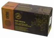 Лазерный картридж Cactus CSP-CE321A (HP 128A) голубой для принтеров HP  Color LaserJet CM1415 Pro MFP, CM1415fn Pro, CM1415fnw Pro, CP1520 Pro series, CP1521, CP1522n, CP1523, CP1525 Pro, CP1525n Pro, CP1525nw Pro, CP1526, CP1527, CP1528 (2200 стр.)