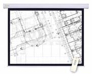 Экран Cactus 180x180см Motoscreen CS-PSM-180x180 1:1 настенно-потолочный рулонный (моторизованный привод).